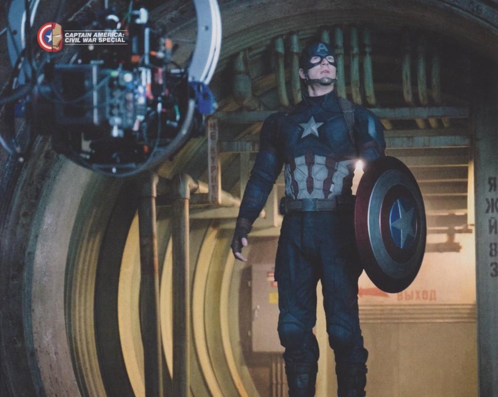 Chris Evans on the set of Captain America: Civil War!