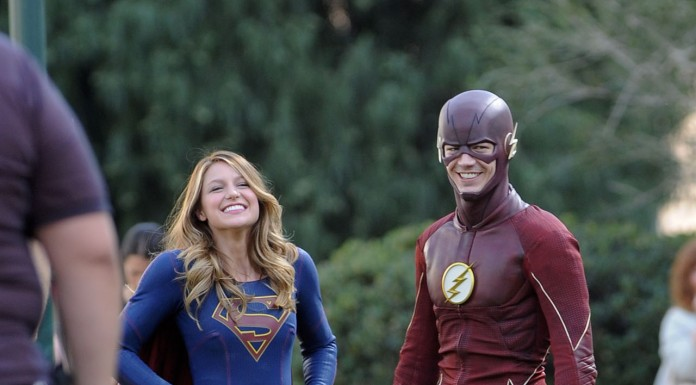 New Photos from the Set of Flash and Supergirl
