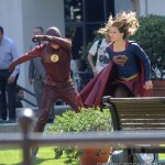 NNew Photos from the Set of Flash and Supergirl