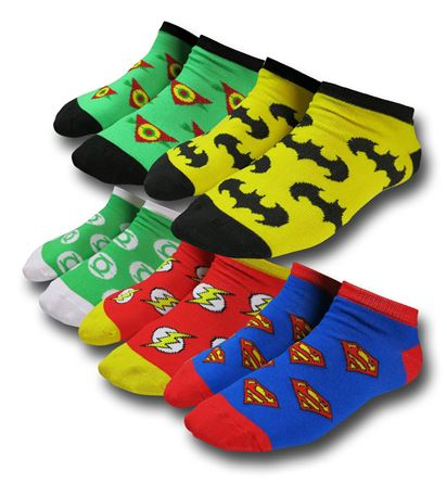 DC Comics 5-Pack Women's Ankle Socks