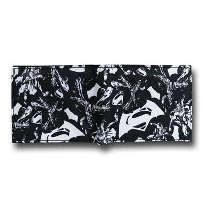 Batman Vs Superman Black and White Wallet