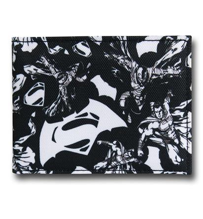 Batman Vs Superman Black and White Wallet!