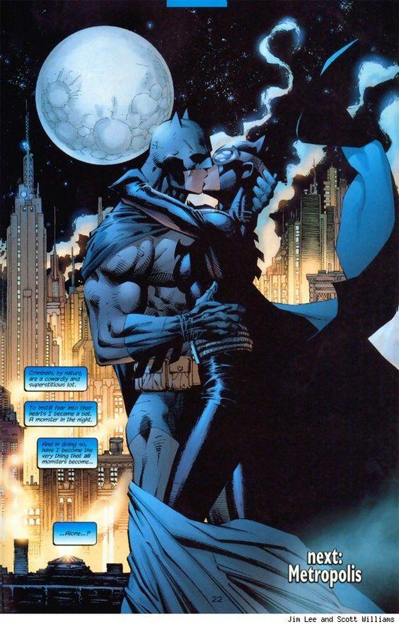 Batman Smooches Catwoman!