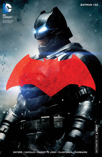 Batman #50 convention variant with Ben Affleck as Batman from 'Batman V Superman: Dawn of Justice'
