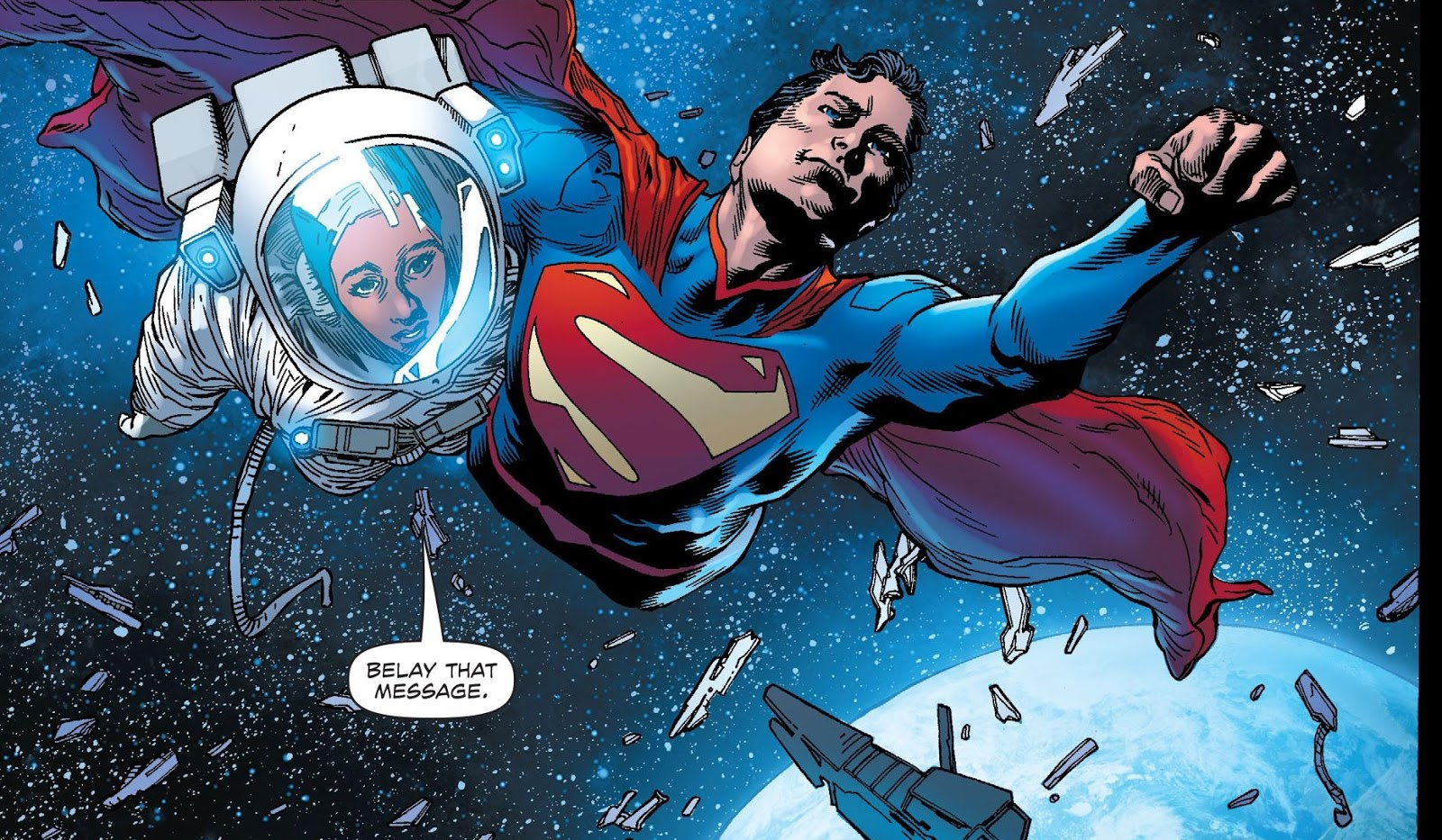 Superman in space!