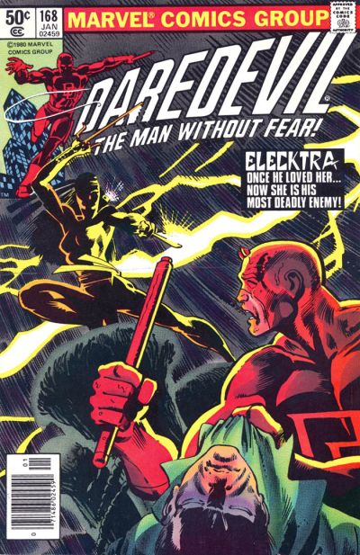 Daredevil #168, the first appearance of Elektra