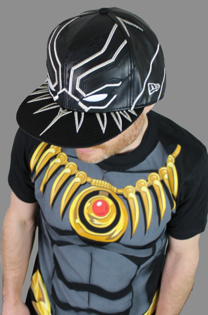 Black Panther Cap and Costume T-Shirt!
