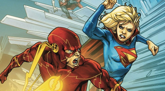 It's Flash and Supergirl!
