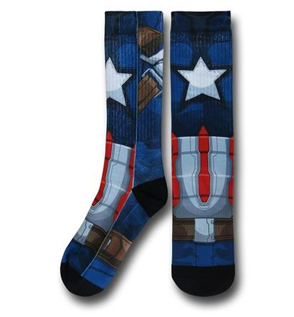 Captain America Civil War Sublimated Costume Socks