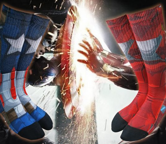 Check out These Captain America: Civil War Sublimated Socks!