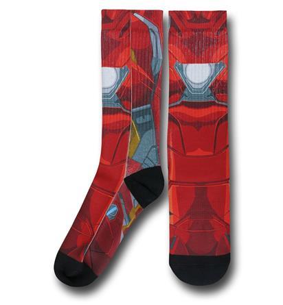 Captain America Civil War Iron Man Sublimated Costume Socks