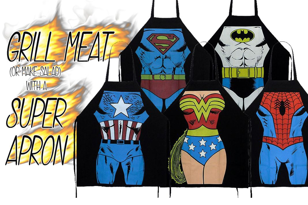 Get Ready for Cooking and Sloppy Eating with Our Superhero Aprons!