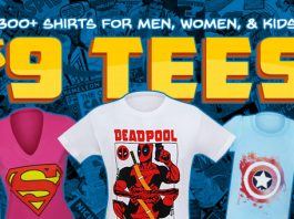 Superherostuff's $9 T-Shirt Sale!