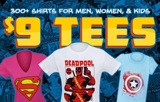 Superherostuff's $9 T-Shirt Sale!