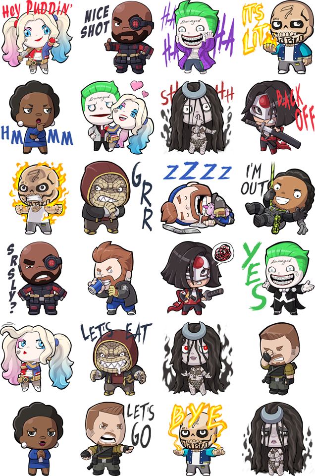 Facebook Suicide Squad Stickers