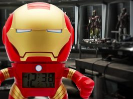 Check out the Iron Man Bulb Botz Clock!
