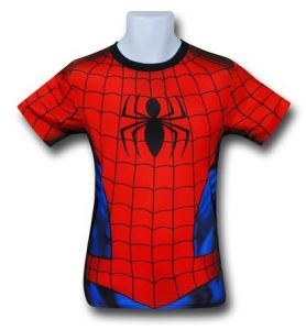 You can hunt Bigfoot too with this awesome Spider-Man costume shirt!