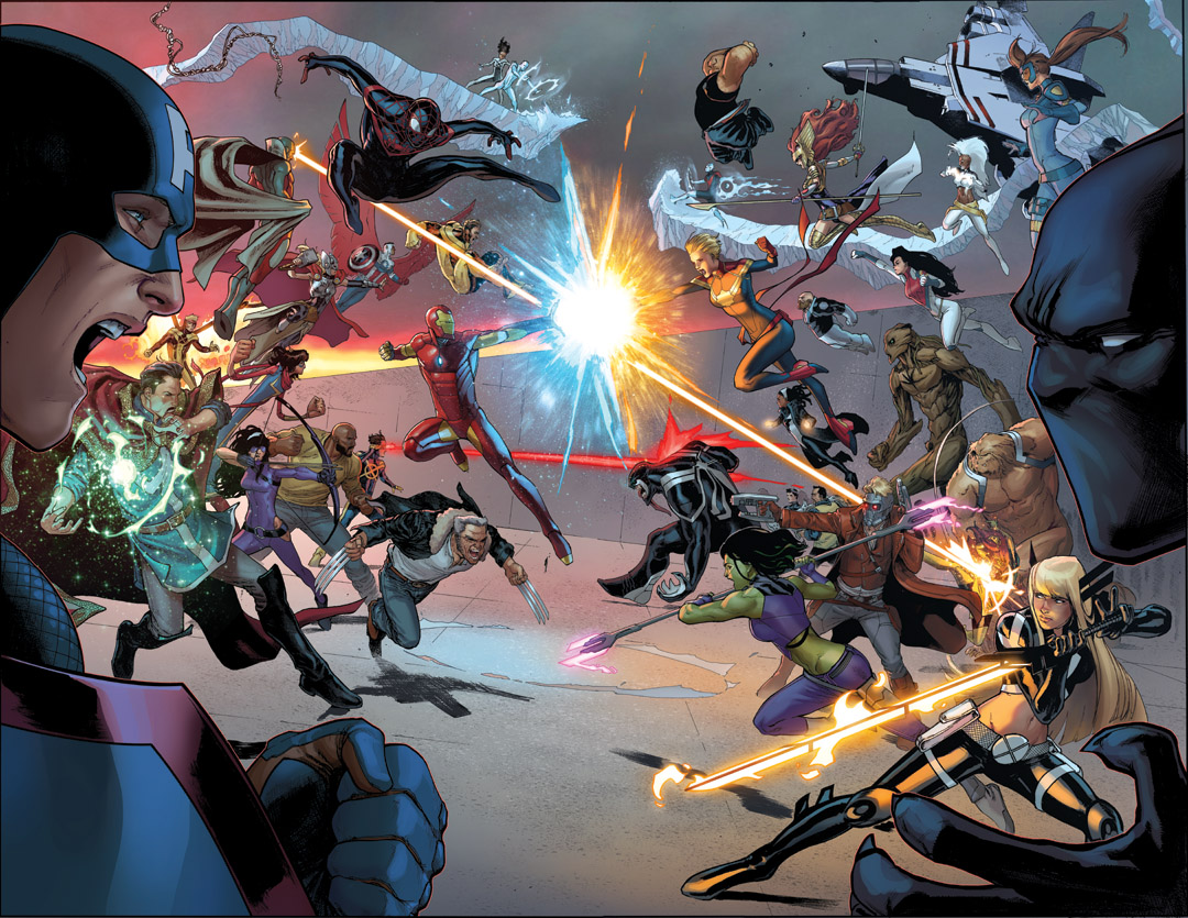 CIVIL WAR II #5 Pits Iron Man vs. Captain Marvel in All Out Grudge Match!
