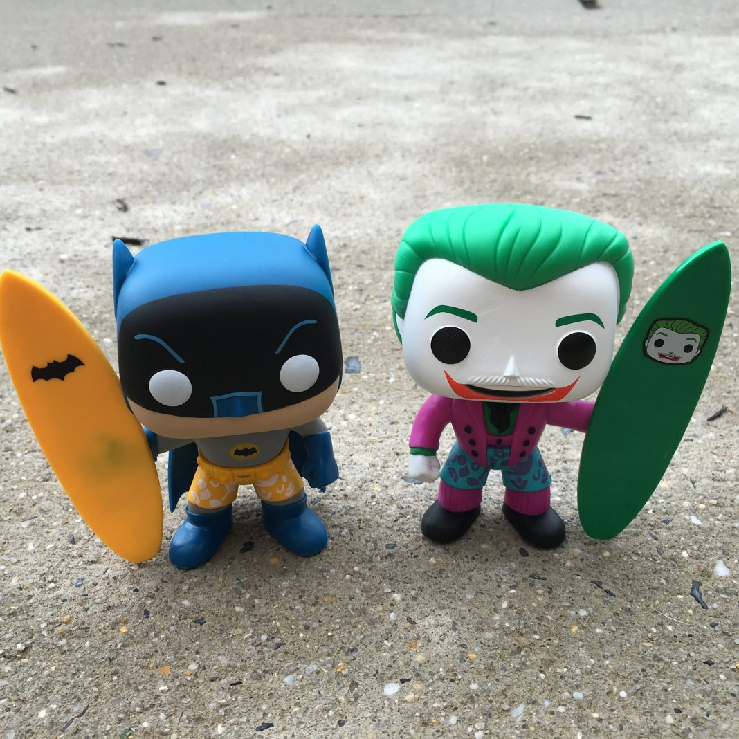 The Batman and Joker 'Surf's Up' POP Vinyl Figures