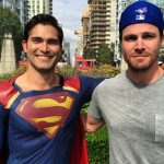 Steven Amell Shares New Photos Teasing CW Superhero Crossover