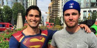 Steven Amell Shares New Photos Teasing CW Superhero Crossover