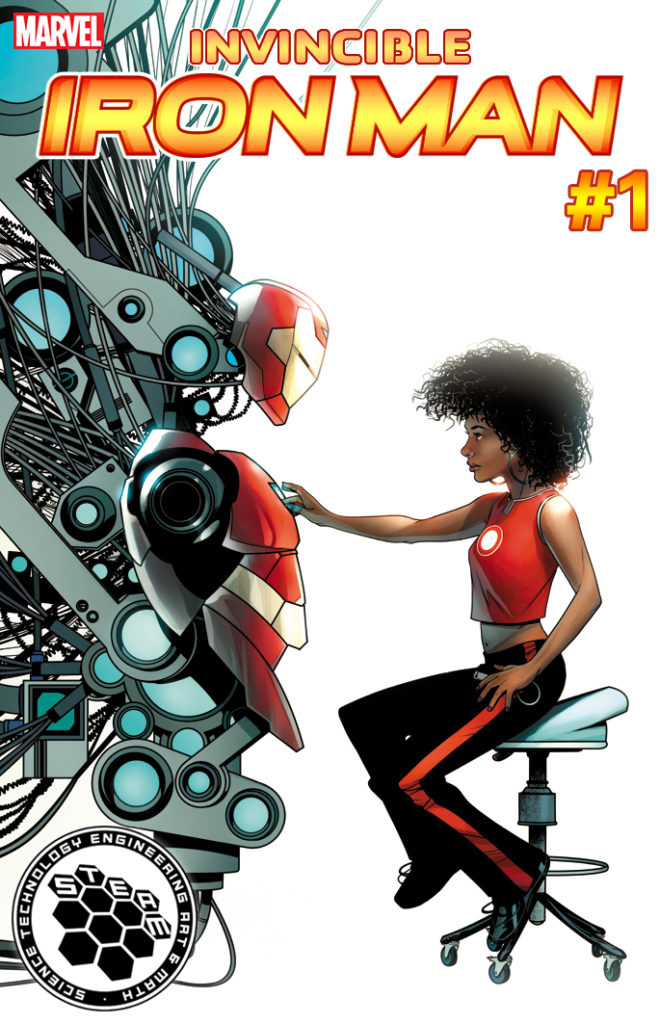 Riri Williams Reveals Her Superhero Name in Invincible Iron Man #1