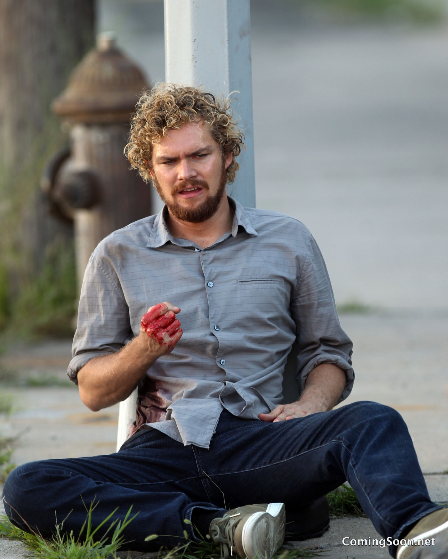 New Image of Bloody Danny Rand on the Set of Marvel's Iron Fist