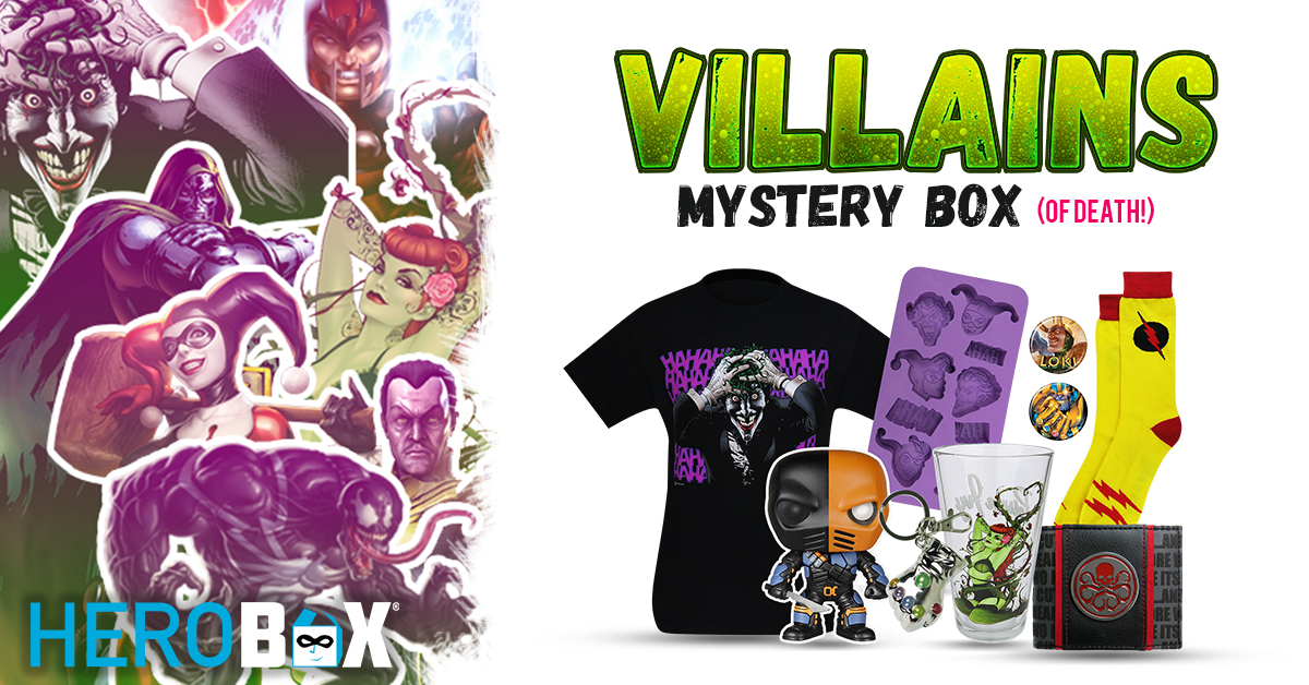 Celebrate Wanton, Costumed Criminality with the Official Villains HeroBox (of death)!