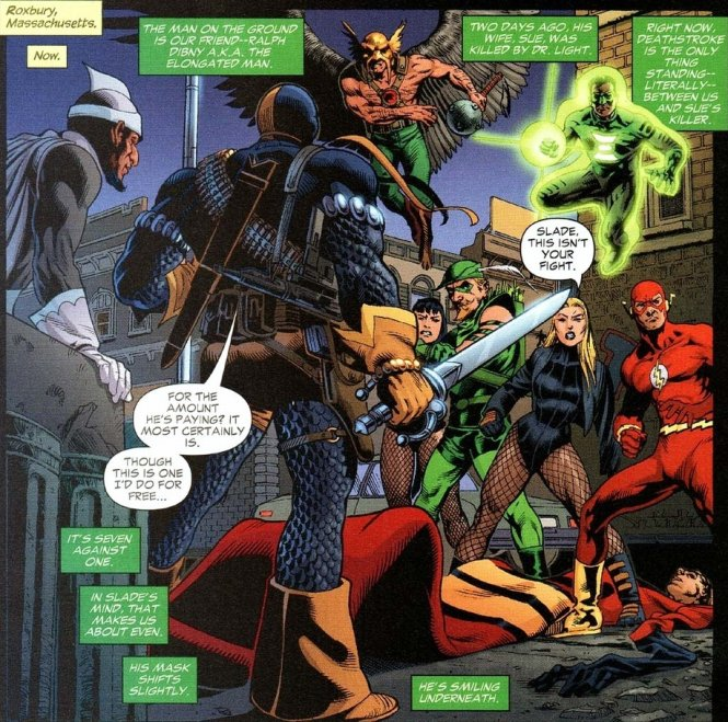 4 deathstroke vs justice league