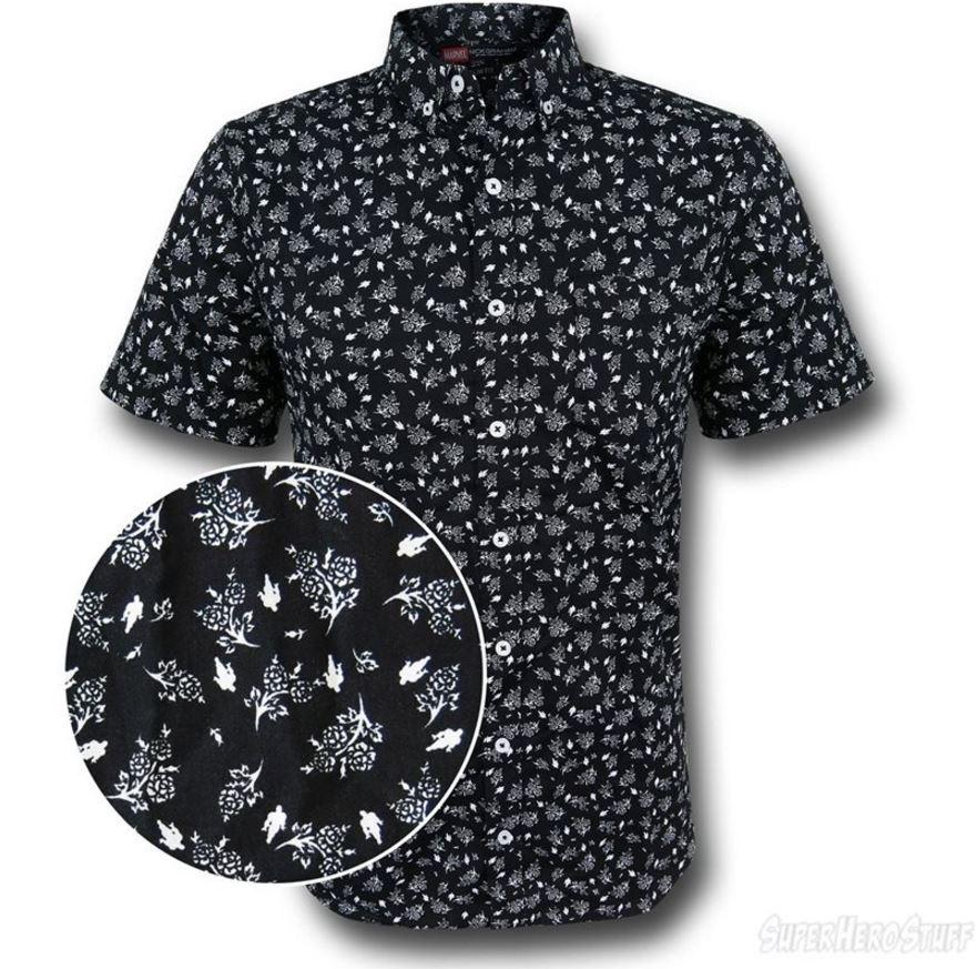 It's the Iron Man Floral Print Men's Button Down Shirt!