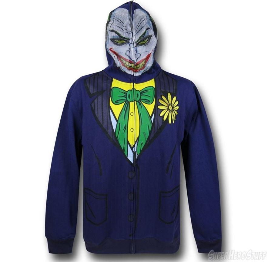 It's the Joker Face Costume Zip-Up Hoodie!