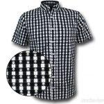 Punisher Plaid Symbol Men's Button Down Shirt