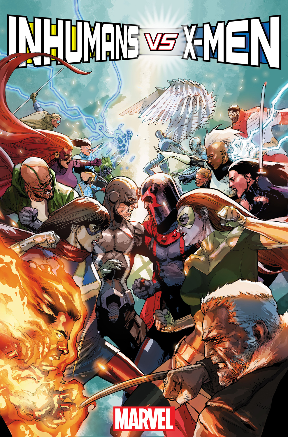 The War for Survival Begins in Your First Look at INHUMANS VS. X-MEN #1!