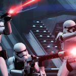 First Order Troopers Open fire