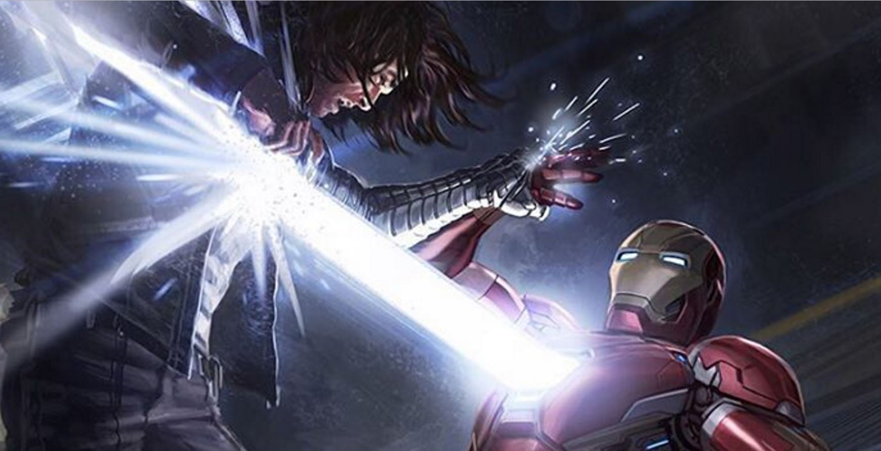 Civil War Concept Art Shows Iron Man Blasting the S*** out of Winter Soldier!