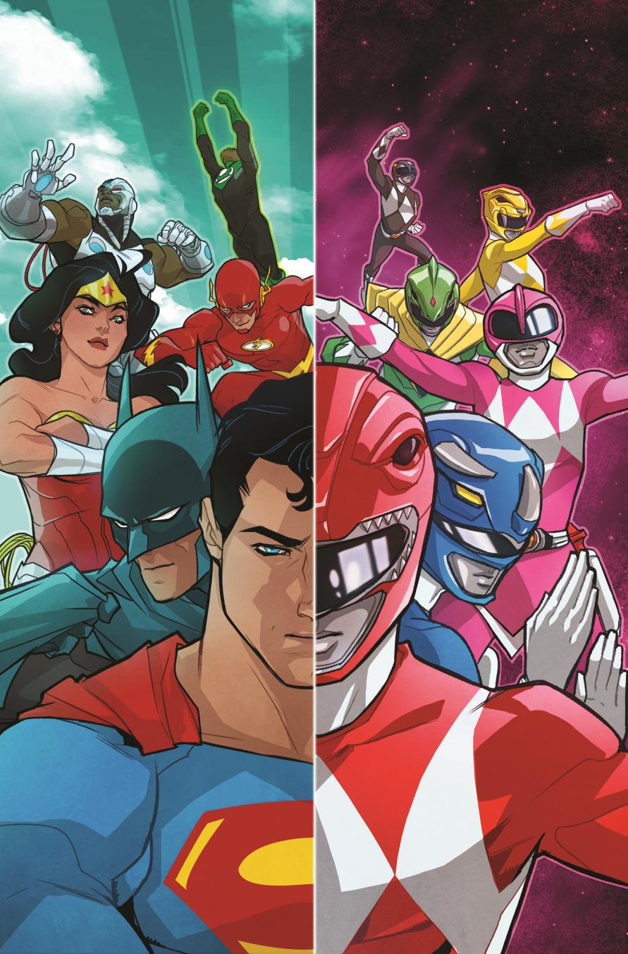 Get Ready for January's Justice League and Power Rangers Crossover!