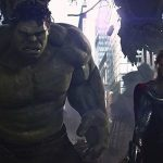 thor and hulk stand tall