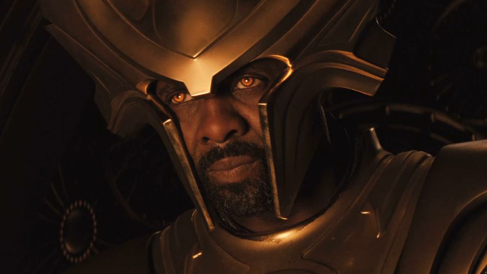 Heimdall's orange eyes