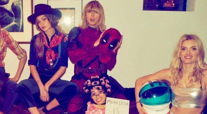 Talyor Swift Wore Ryan Reynold's Deadpool Costume for Halloween