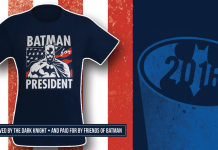 SHOW YOUR SUPPORT! Wear the T-Shirt and Write in Batman for President!