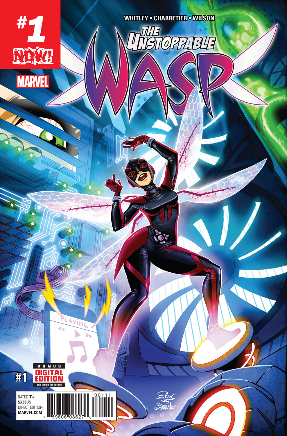 Girl. Genius. Hero. Unstoppable. Your First Look at THE UNSTOPPABLE WASP #1!