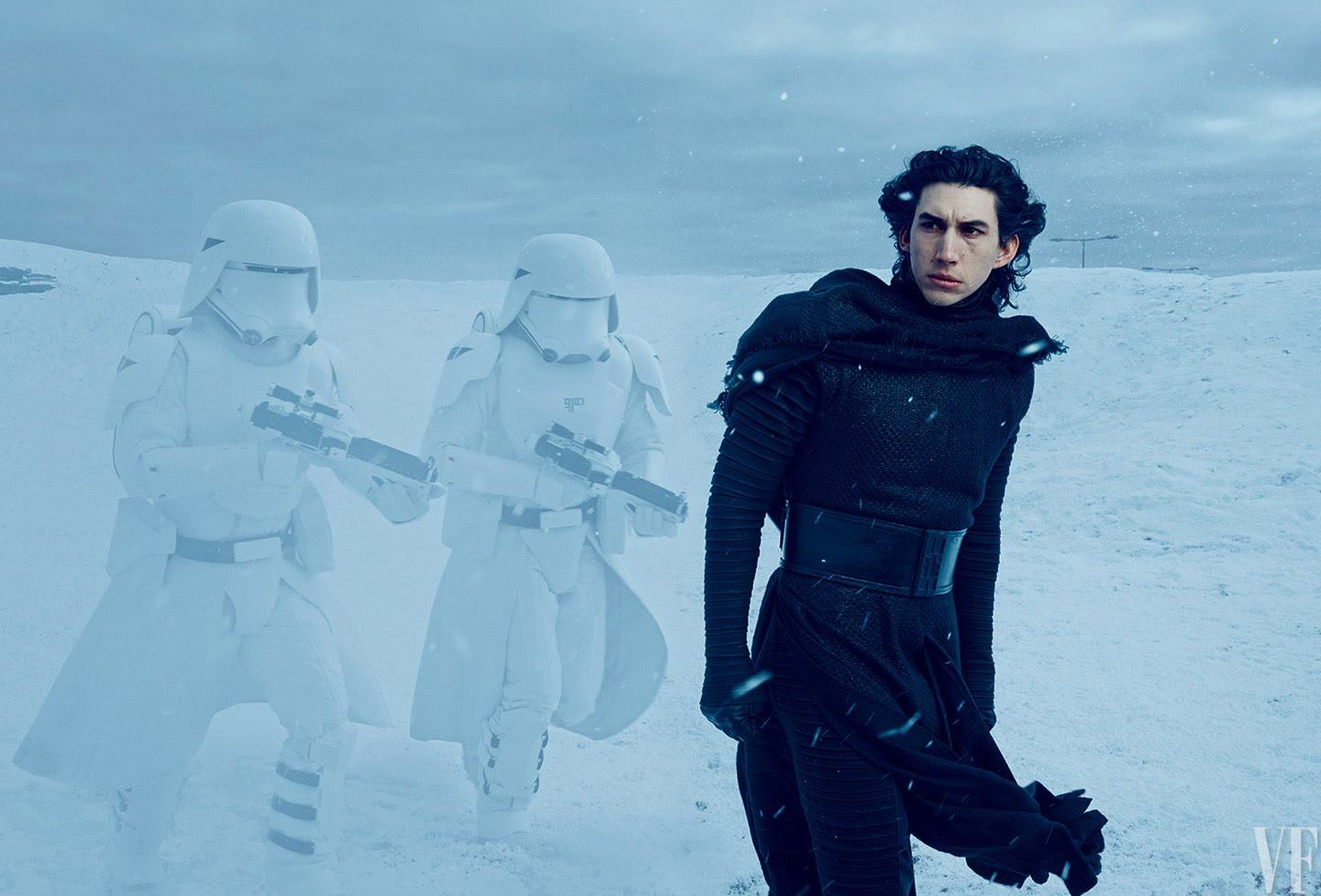 kylo ren and snow troopers
