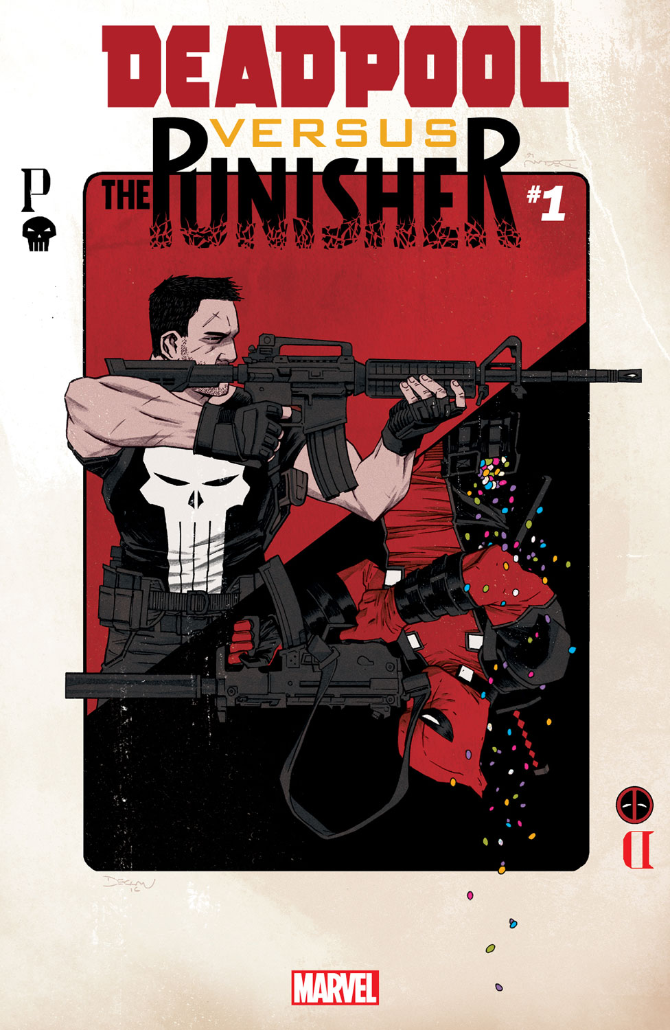 Marvel's Deadliest Denizens Square Off in DEADPOOL VS. THE PUNISHER #1!