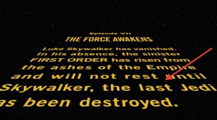 Director Rian Johnson Teases THE LAST JEDI Opening Crawl from Editing Bay