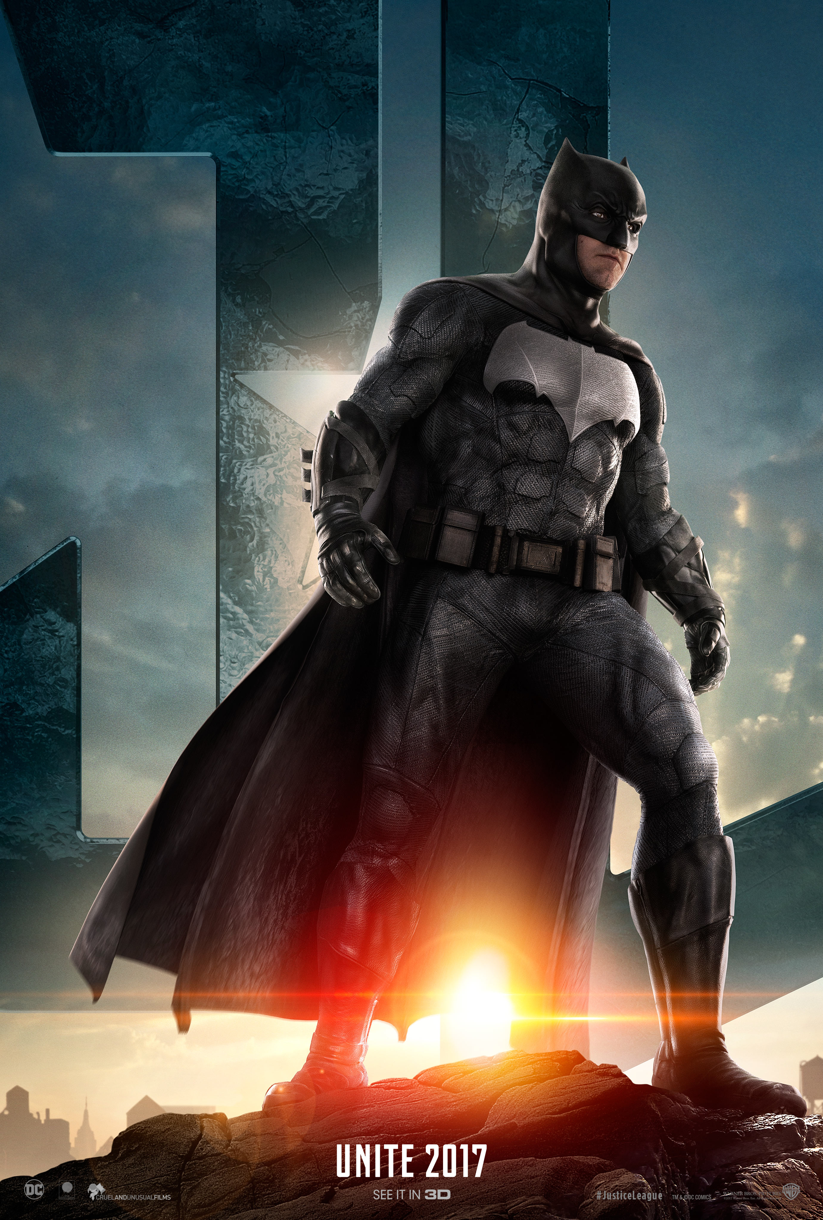 New JUSTICE LEAGUE Teaser Trailers and Character Posters for Aquaman, Batman, Flash (more to come)!