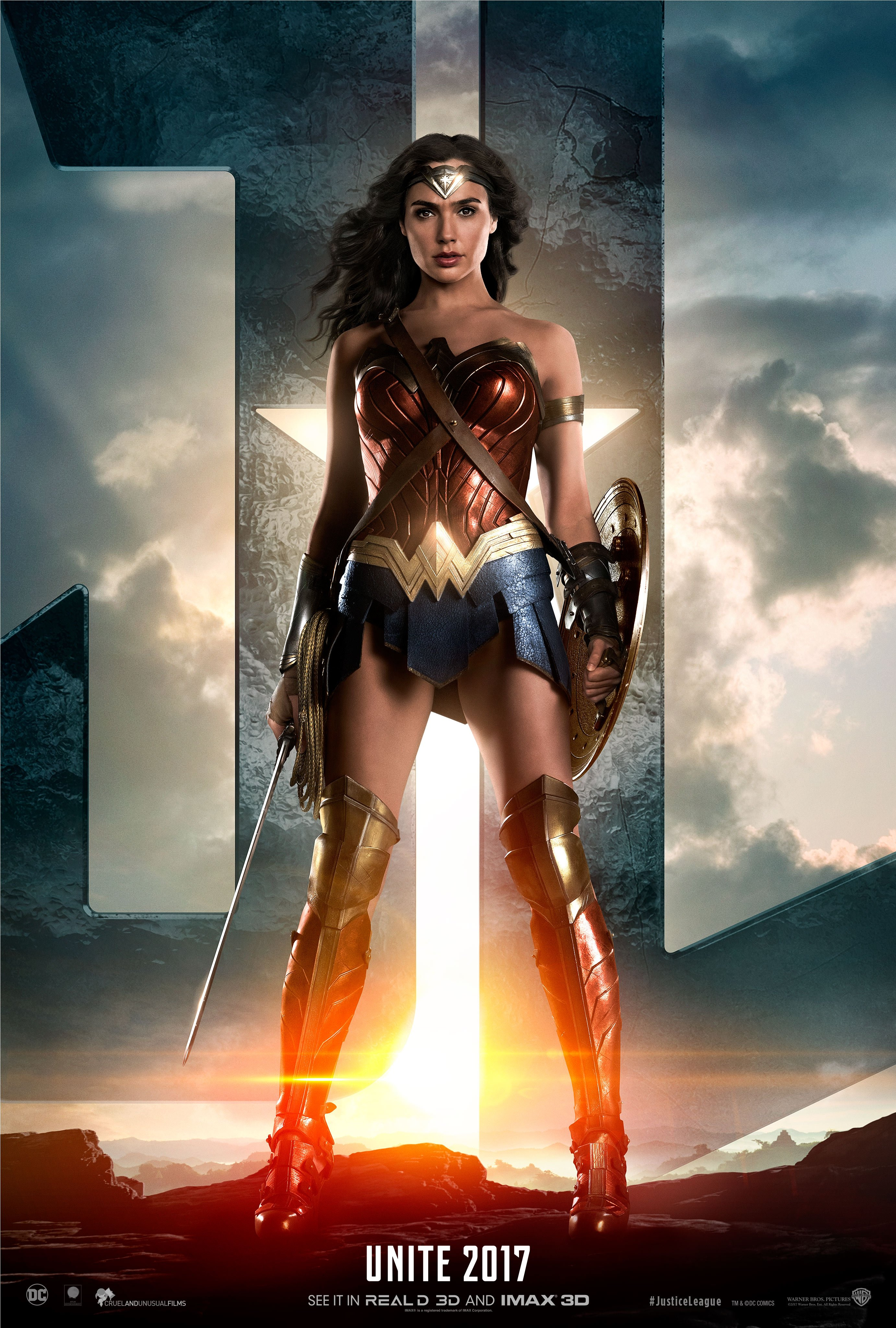 Today's JUSTICE LEAGUE Teaser Trailer Features Wonder Woman (complete with stunning character poster)!