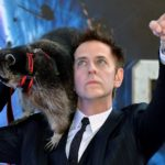 james gunn and a raccoon