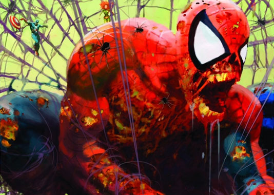 Such as this zombie Spider-Man from Marvel Zombies!