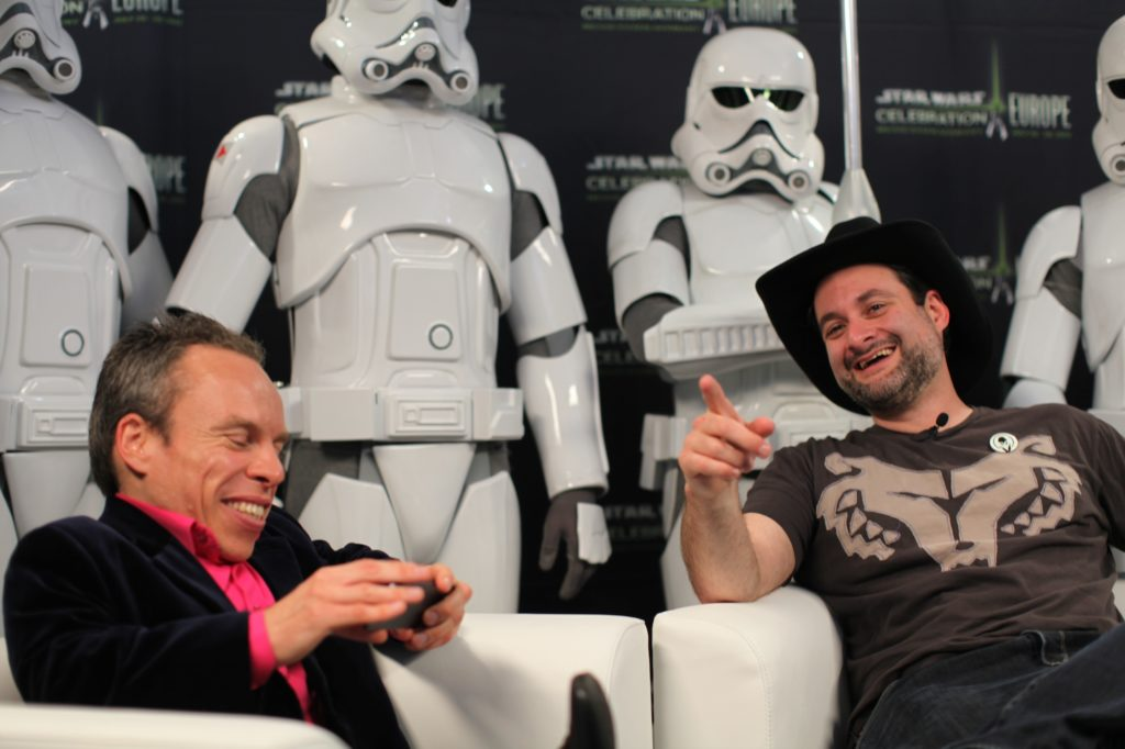 warwick davis and dave filoni